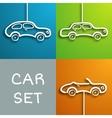 Paper car set vector