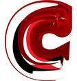 Artistic font letter c vector