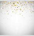 Golden falling stars vector