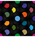 Phonograph vinyl record seamless pattern vector