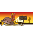 Cowboy background vector