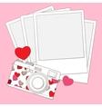 Love photo camera background vector