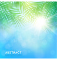 Abstract background with palm branches vector