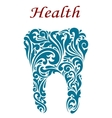 Tooth in floral style vector