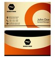Abstract business cards set in various concepts vector