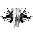 Skull cow and guns vector