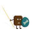 Chocolate warrior vector