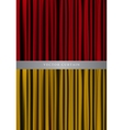 Red and gold curtain vector