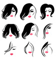 Woman hair vector
