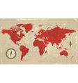 Retro map of the world vector