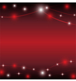 Red background with light star vector