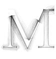Sketch font letter m vector