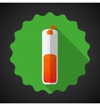 Medical glossy flask flat icon vector