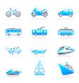 Transportation icons  marine vector