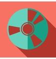 Modern flat design concept icon cd or dvd computer vector