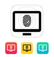 Desktop fingerprint icon vector