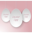 Paper easter egg template vector