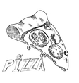 Hand drawing pizza vector