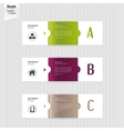 Set of colorful banners bookmarks labels website vector
