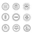 Set of outline emblems vector