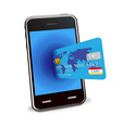 Smart phone and credit card vector