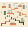 Abstract multi storey building vector