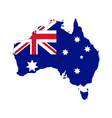 Map and flag of australia vector