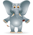Funny fat elephant cartoon vector