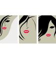 Woman hair back vector
