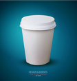 Disposable paper cup vector