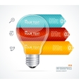 Lamp modern infographics options banner vector