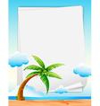 Beach banner vector