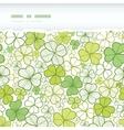 Clover line art horizontal torn seamless pattern vector