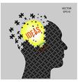 Head and ideas vector