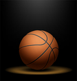 Basketball under spotlight vector