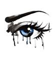 Beautiful eyes hand-drawn vector