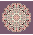 Beautiful purple arabesque lace pattern background vector