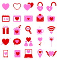 Love color icons on white background vector