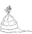 Retro lady in dress vector