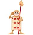 Queen of hearts guard vector
