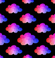 Cloud seamless pattern with hipster background vector