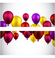 Celebrate banners with balloons vector