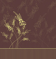 Beautiful floral background with copy space vector
