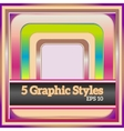 Sweet colorful graphic styles for various design vector