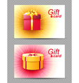 2 bright gift cards vector