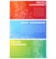 Three music banners vector