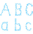 Abc letters vector