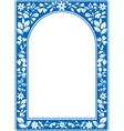 Blue floral arch frame vector