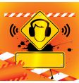 Caution music vector