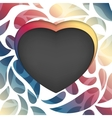 Heart frame multicolored abstract background vector